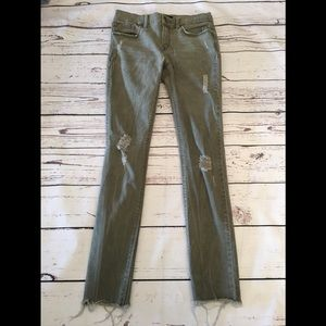 Express pale Olive Jeans